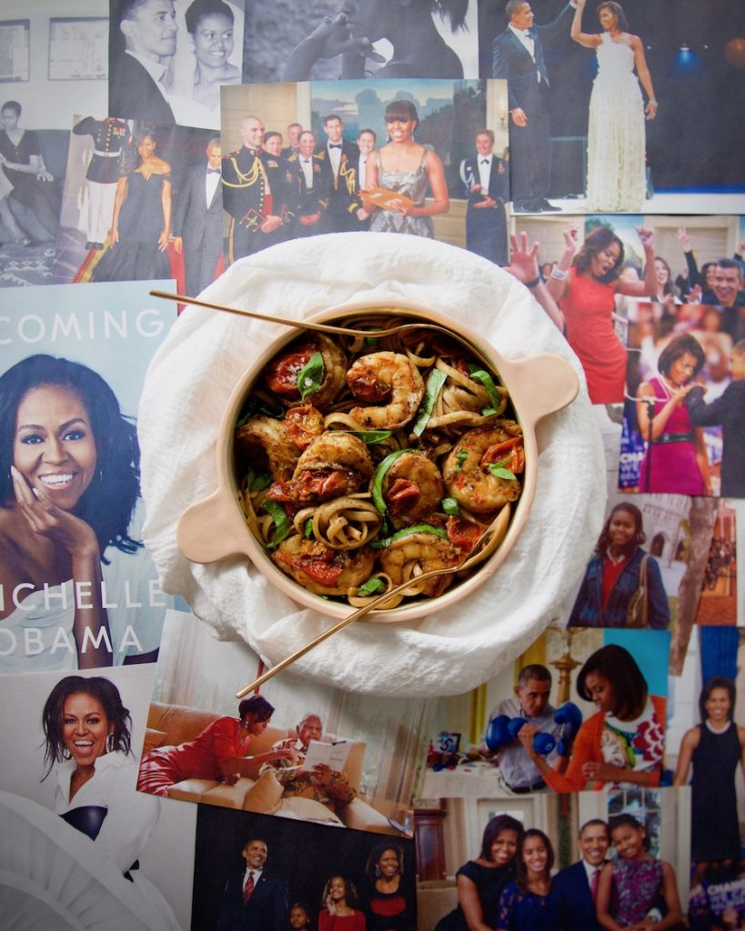 perfect-shrimp-linguine-Michelle-Obama_(c)-by-Molly-Beauchemin_Grace&LightnessMagazine