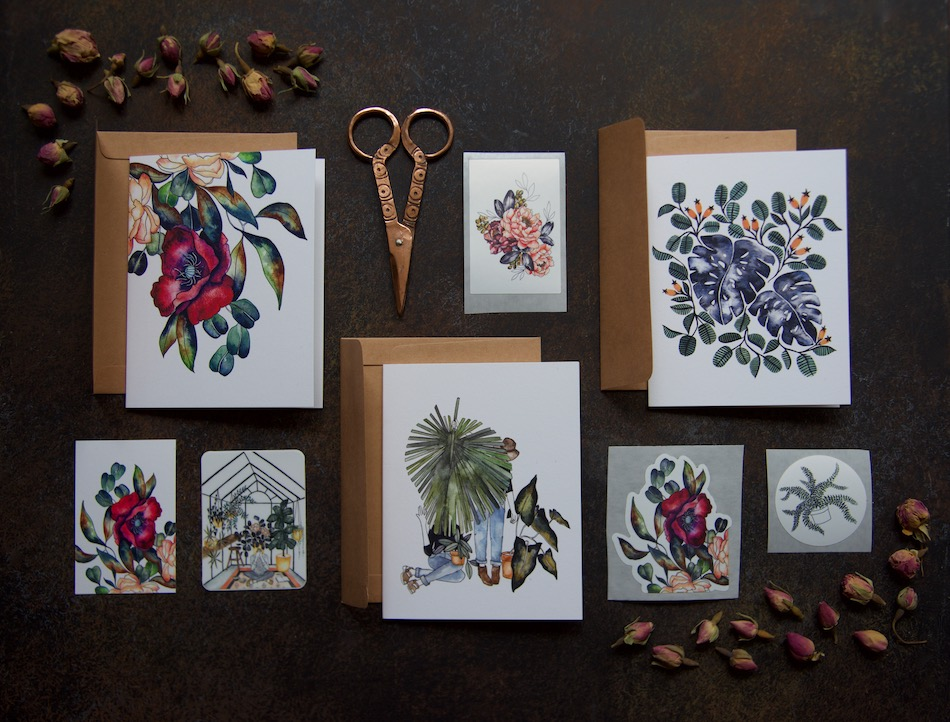 beautiful-stationary_botanical-cards_flower-stationary
