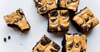 best-gluten-free-peanut-butter-brownies_brownies-with-bitemarks