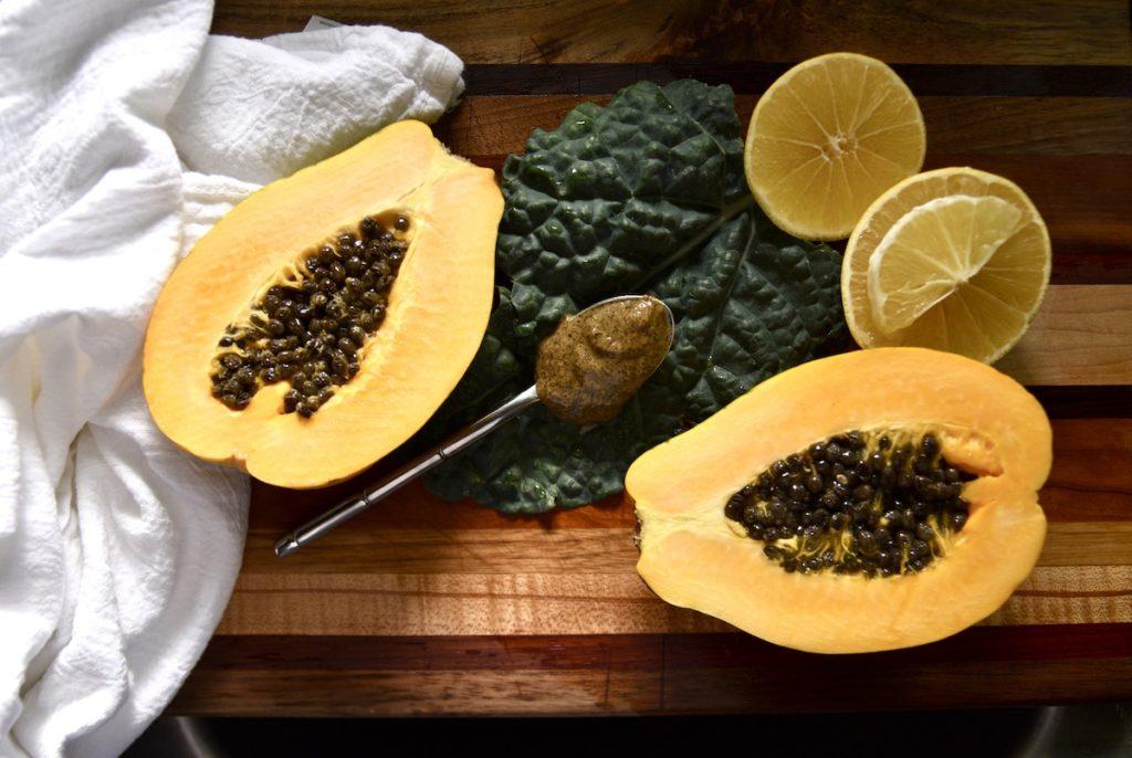 homemade papaya seed salad dressing