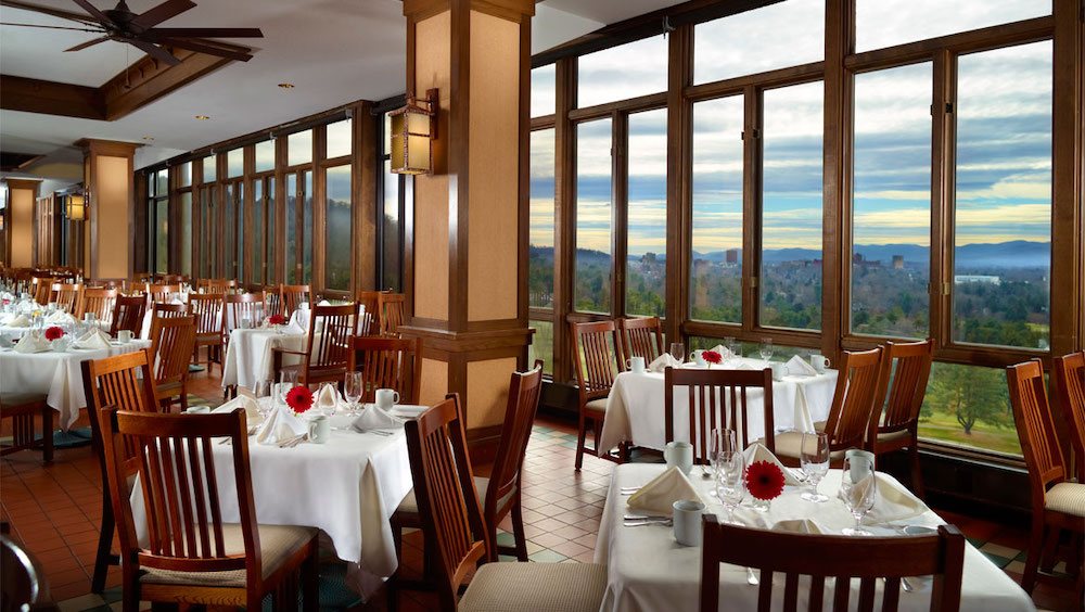 restaurants with a view asheville nc